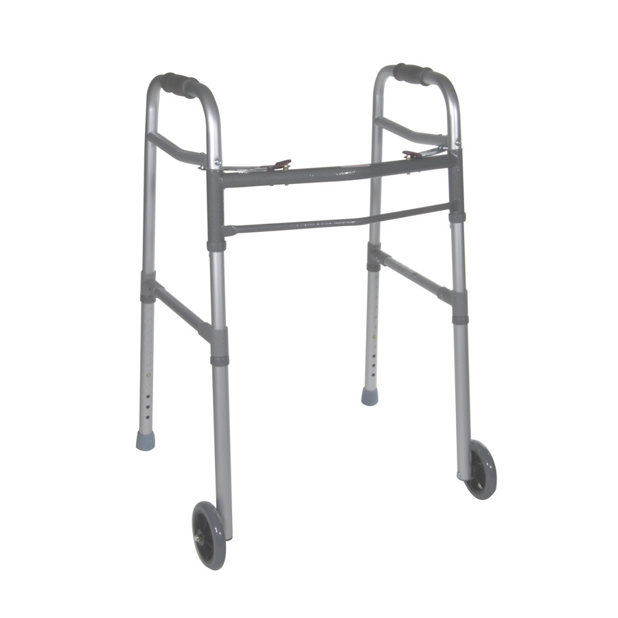 Universal Deluxe Two Button Folding Walker