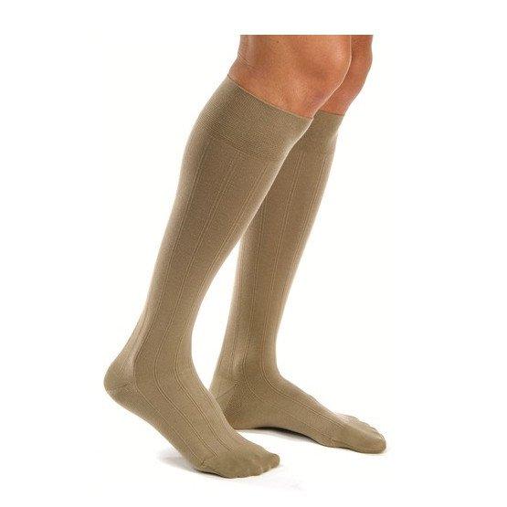 Men 15-20 mmHg Knee High Ribbed Compression Socks