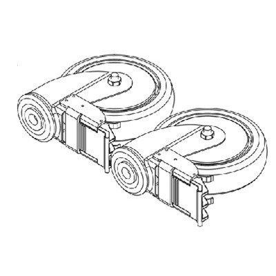 Spryte Stand Assist Rear Caster w/ Swivel Brake Single