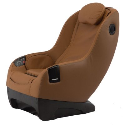 Apex iCozy Massage Chair - Dark Brown - Front Angle View