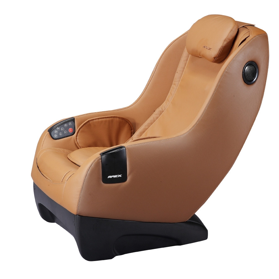 Apex iCozy Massage Chair - Light Brown - Front Angle View