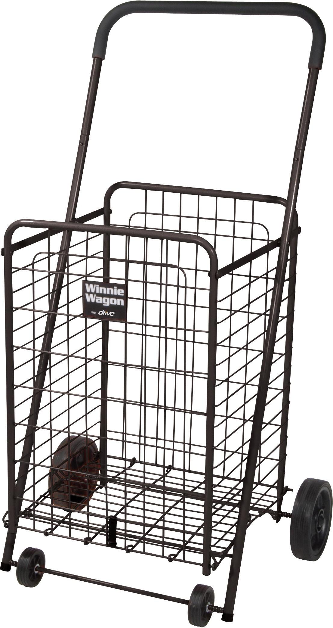 Winnie Wagon with Adjustable Handle Height - Black
