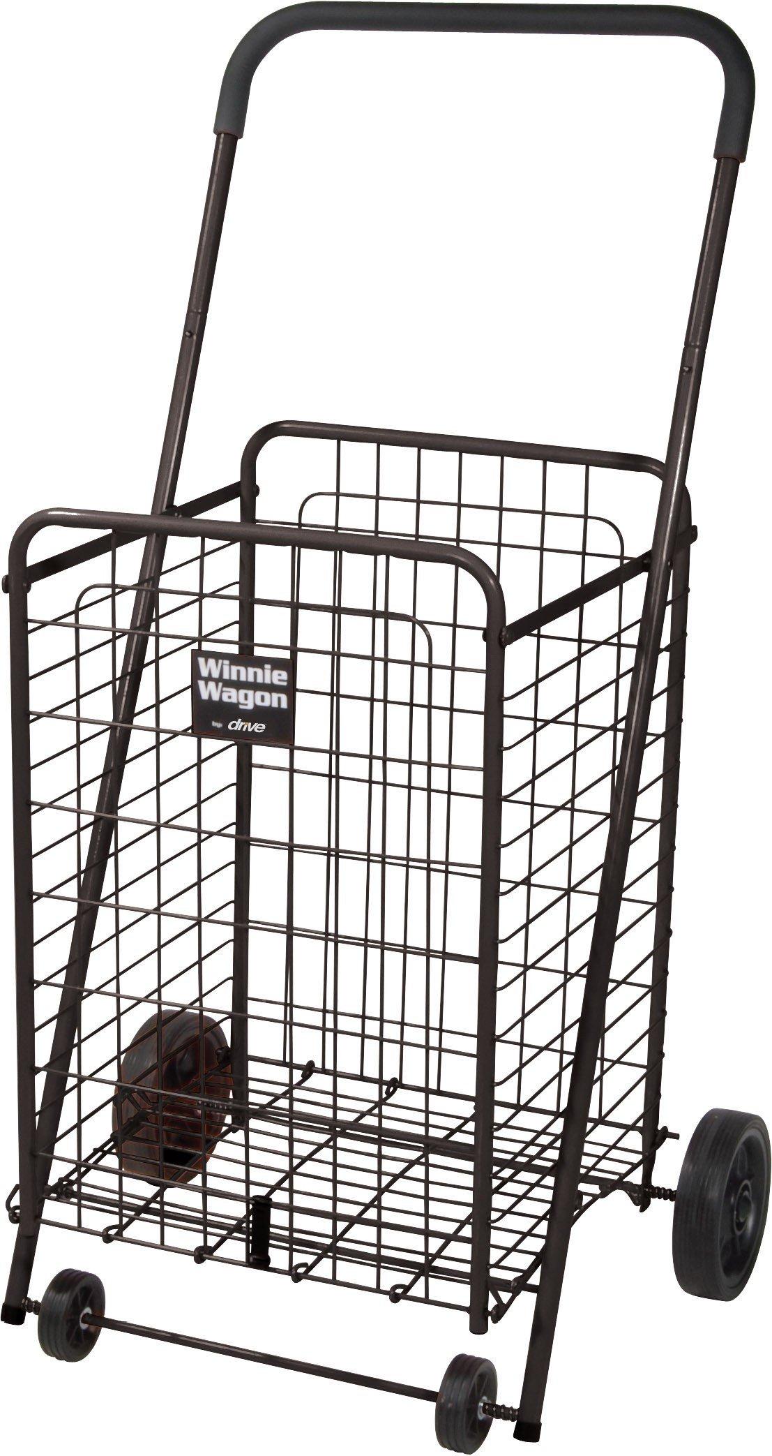 Winnie Wagon with Adjustable Height Handle - Black