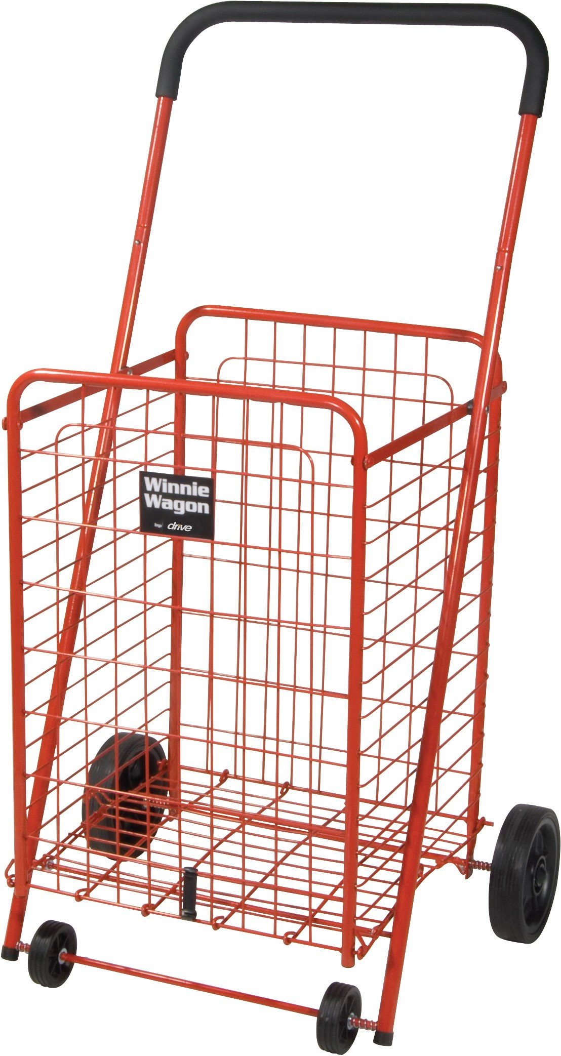 Winnie Wagon with Adjustable Height Handle - Red