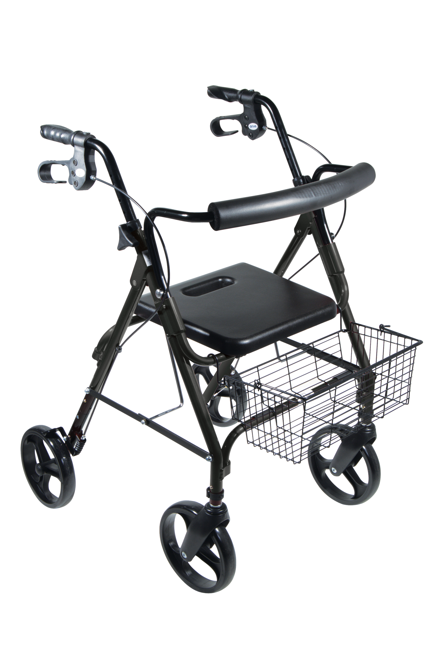 "D-Lite Aluminum Rollator with Removable 8"" Casters - Black - 750NBK"