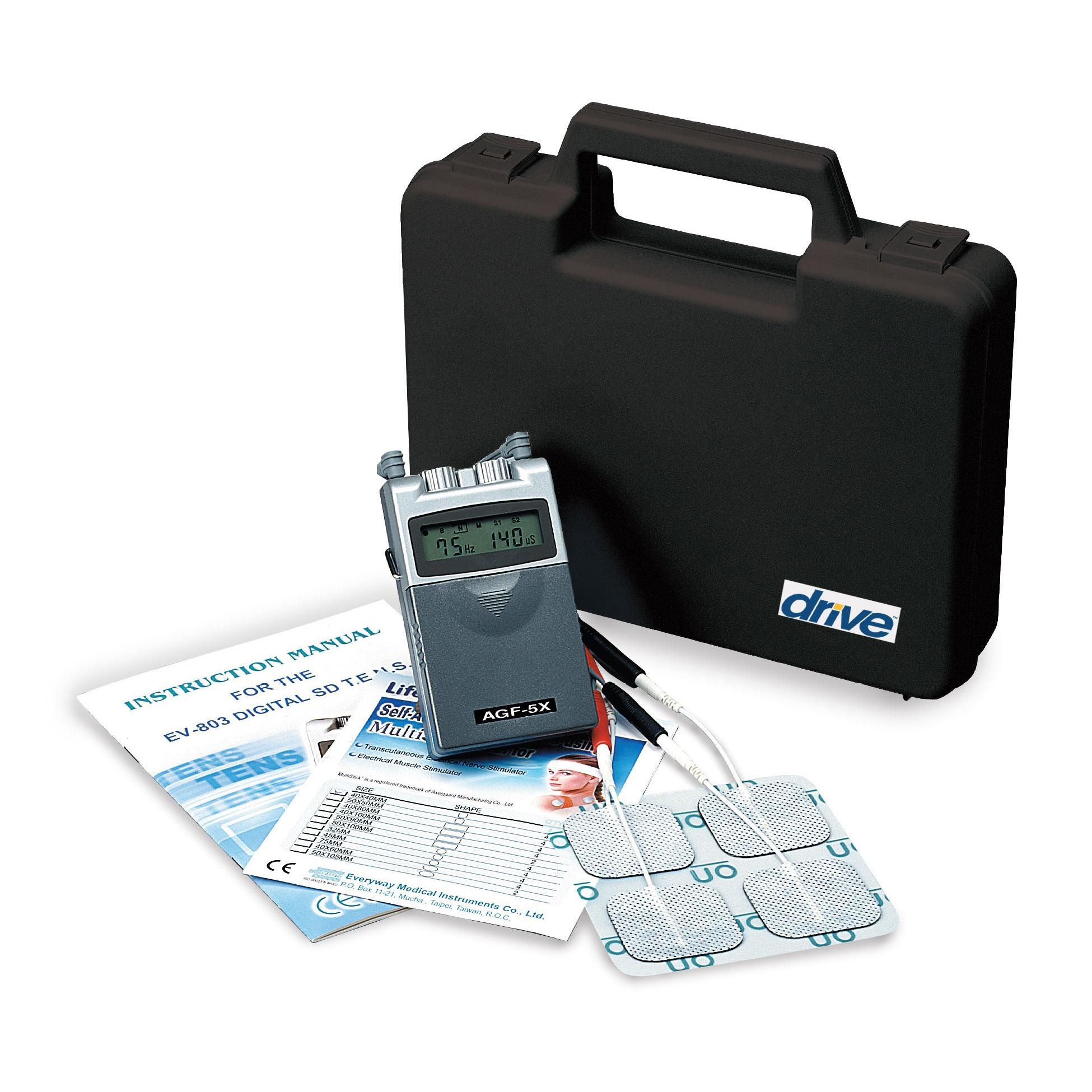 Drive Medical Portable Digital Dual Channel 5 Mode TENS