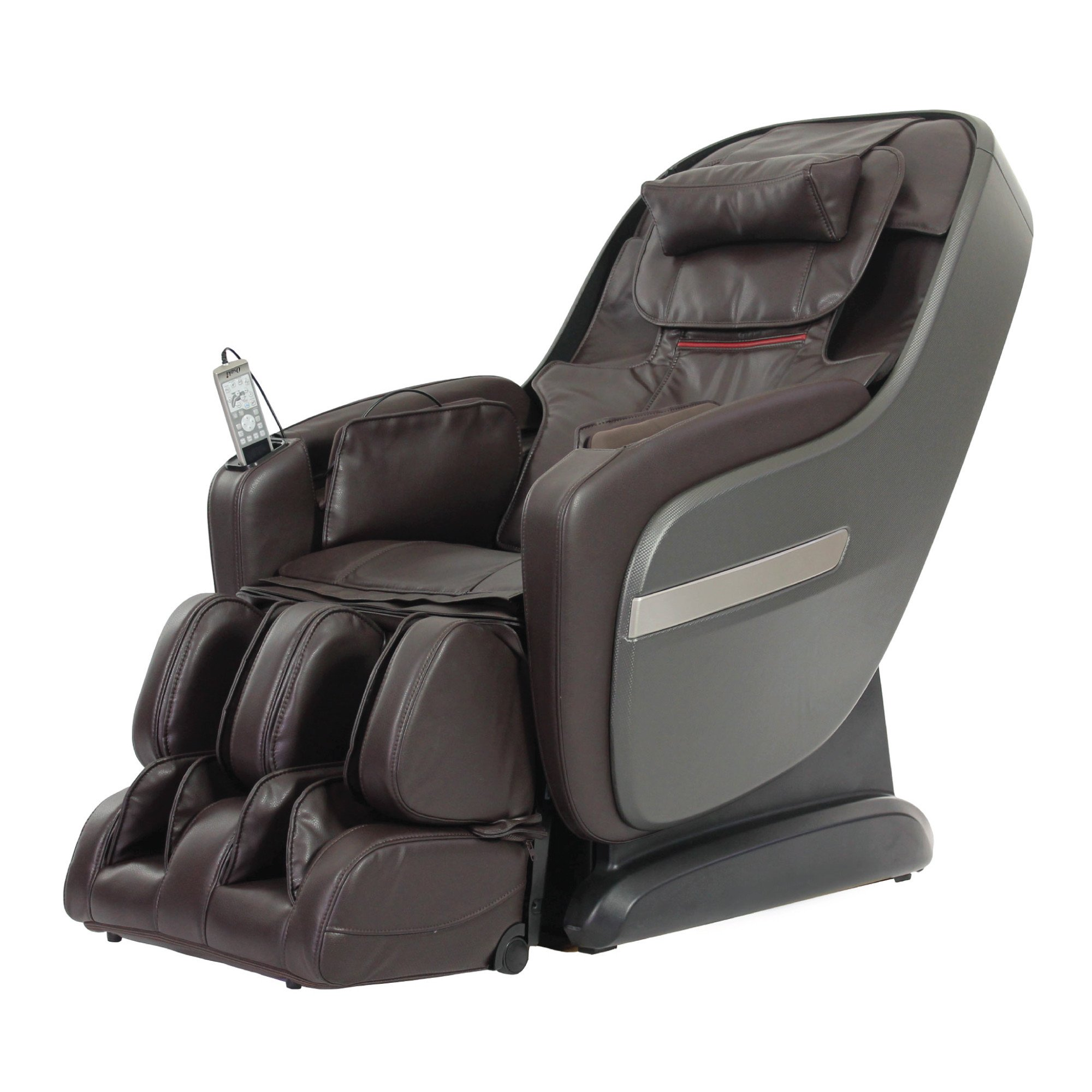 Titan Alpine Massage Chair - Brown - Front Angle View