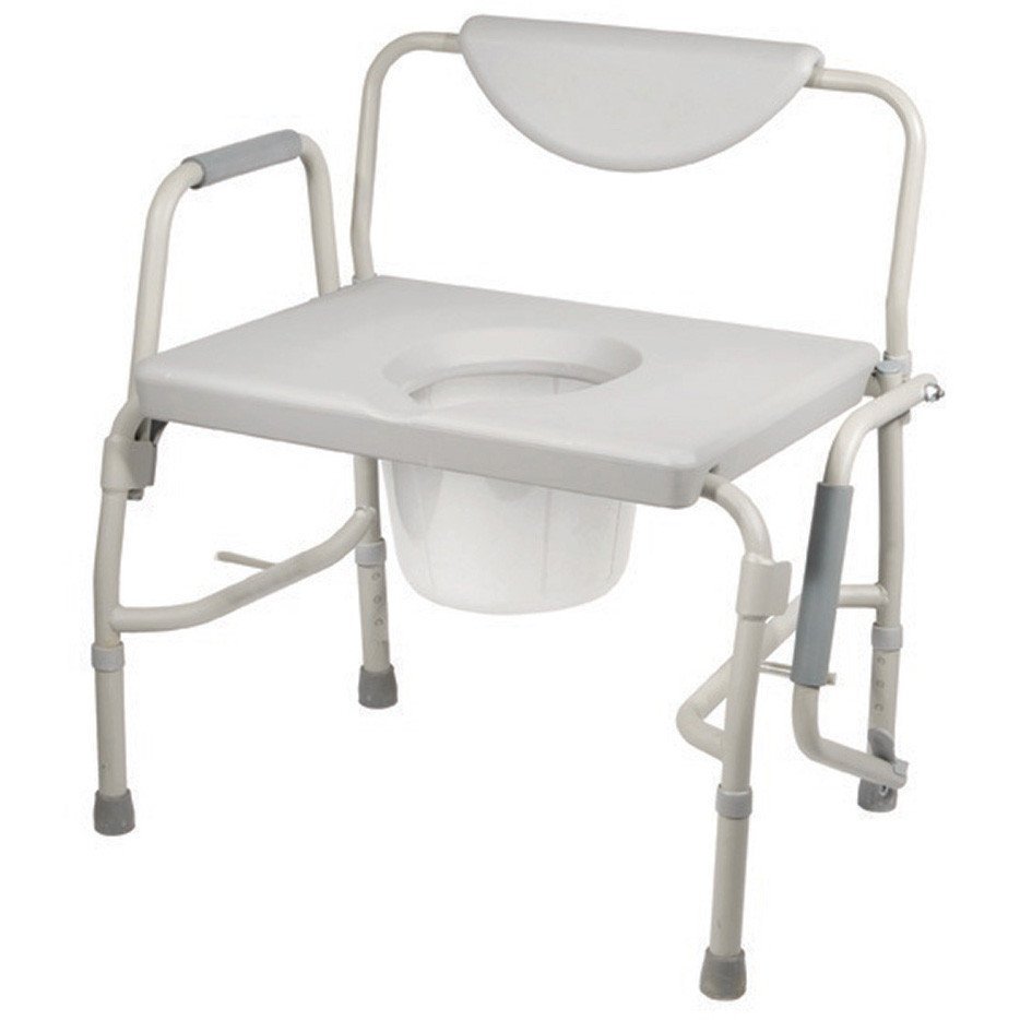 Drive Medical - Deluxe Bariatric Drop-Arm Commode - 11135-1