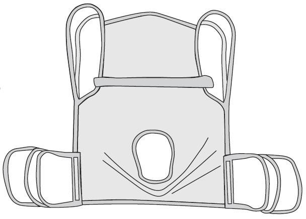 Drive One Piece Commode Sling w/ Positioning Strap