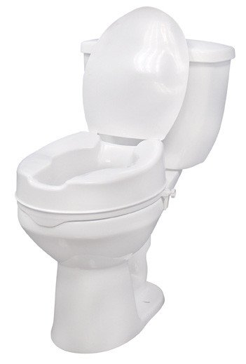 Drive Raised Toilet Seat With Arms.Drive Medical Raised Toilet Seat With Lid Clamps Pair 12065 C