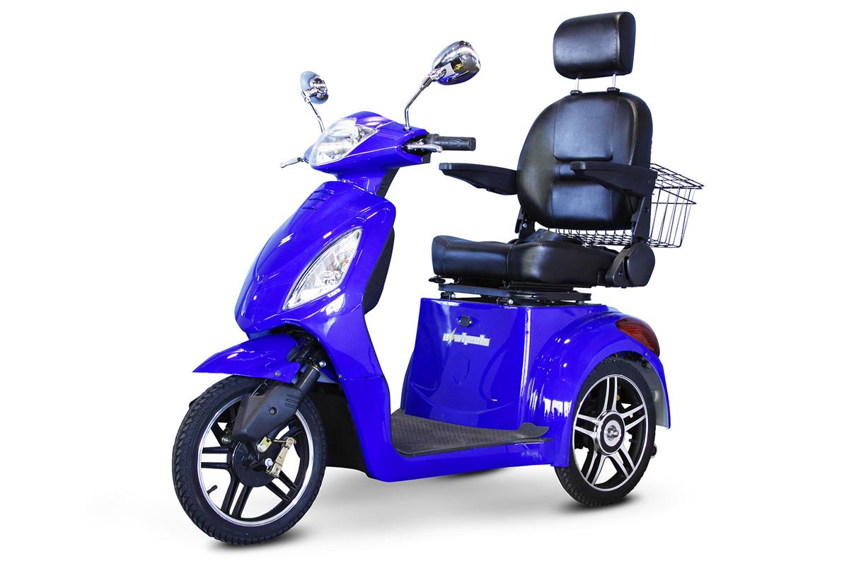 EW-36 3 Wheel Mobility Scooter - Royal Blue