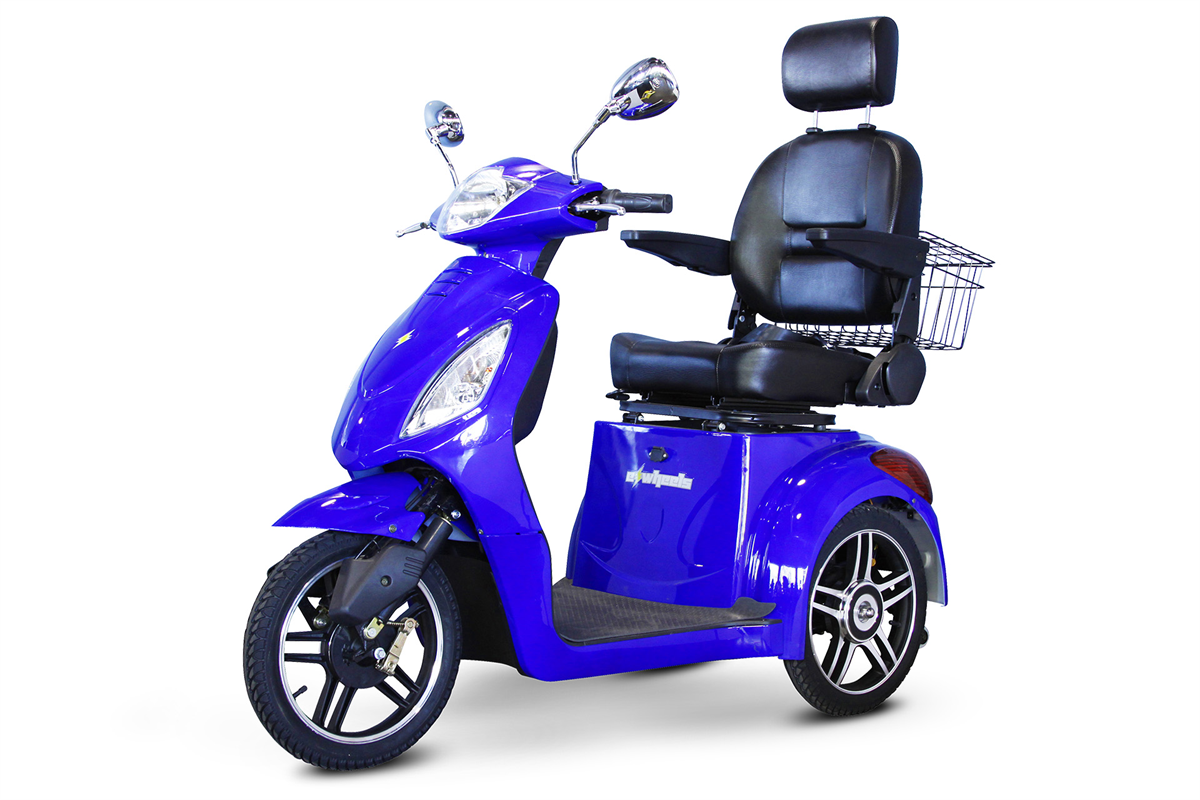 EW-36 3 Wheel Mobility Scooter - Royal Blue