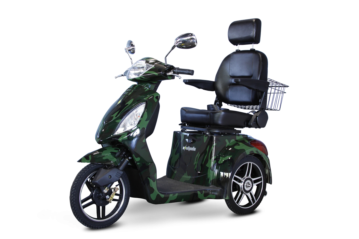 EW-36 3 Wheel Mobility Scooter - Green Camouflage