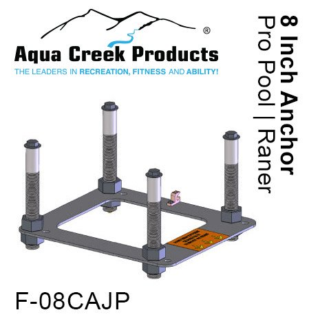 """Aqua Creek Anchor Kit, Anchor Kit for Paver Apps (8"""" Inserts) for Ranger, Pro, Admiral Lifts"""
