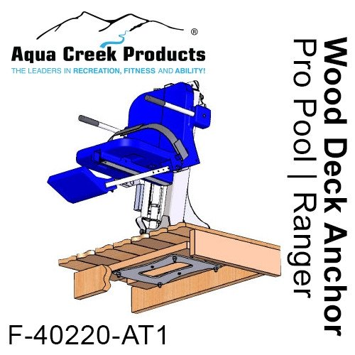Aqua Creek Pro Series Wood Deck Anchor For Admiral,Pathfinder, Ranger, Pro Pool Lifts