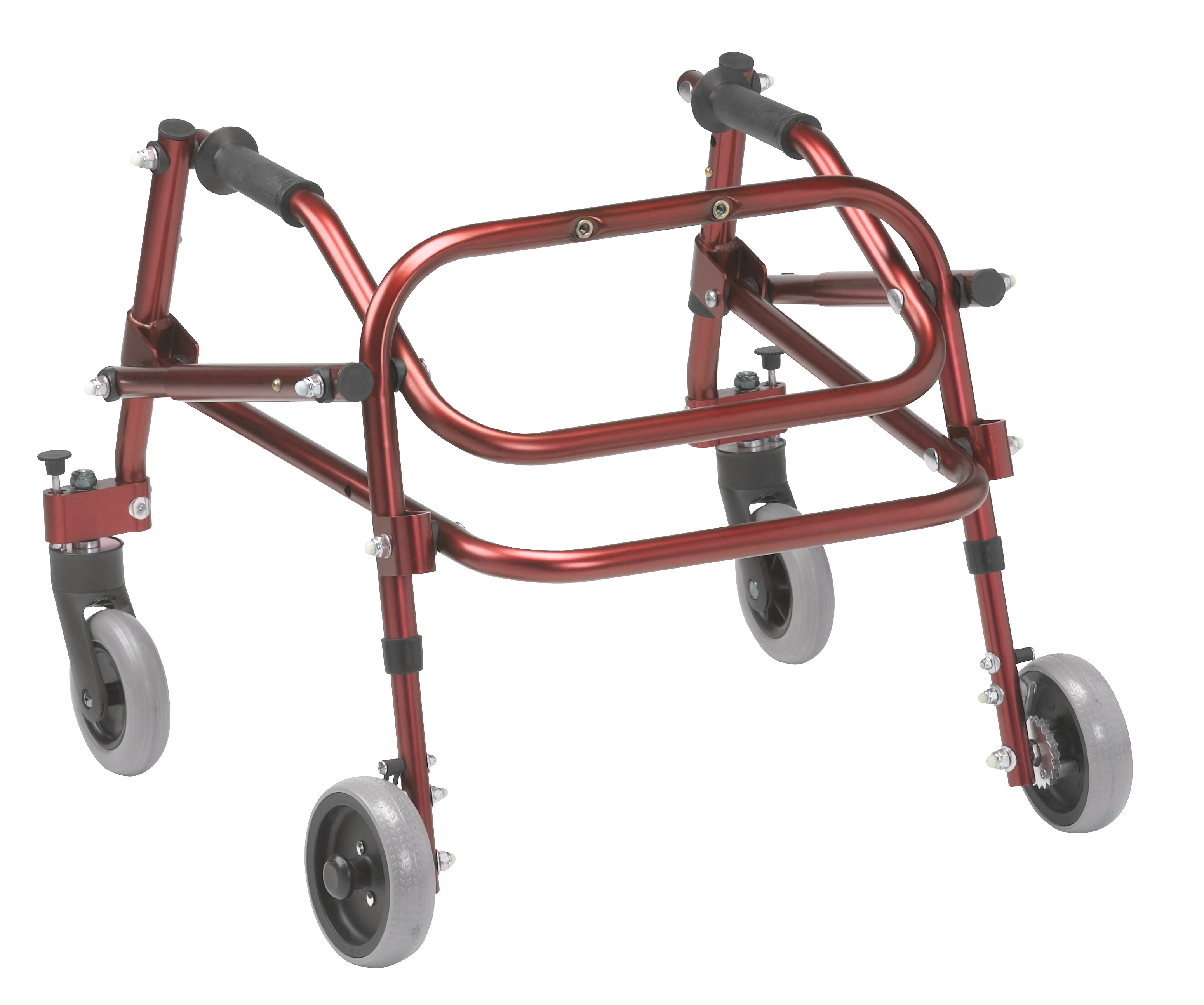Nimbo 2G Lightweight Posterior Walker - Large - Castle Red - Angle View