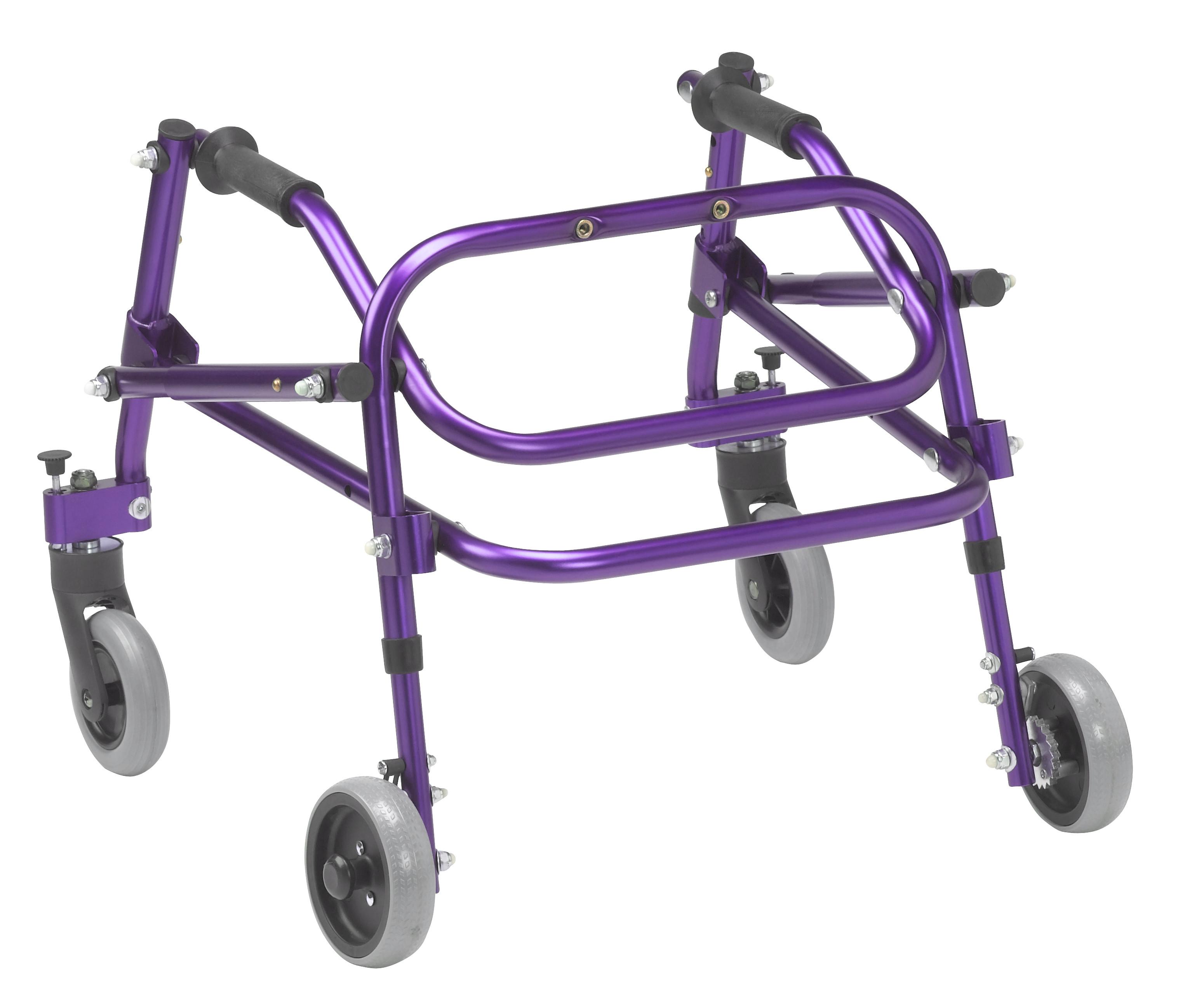 Nimbo 2G Lightweight Posterior Walker - Large - Wizard Purple - Angle View