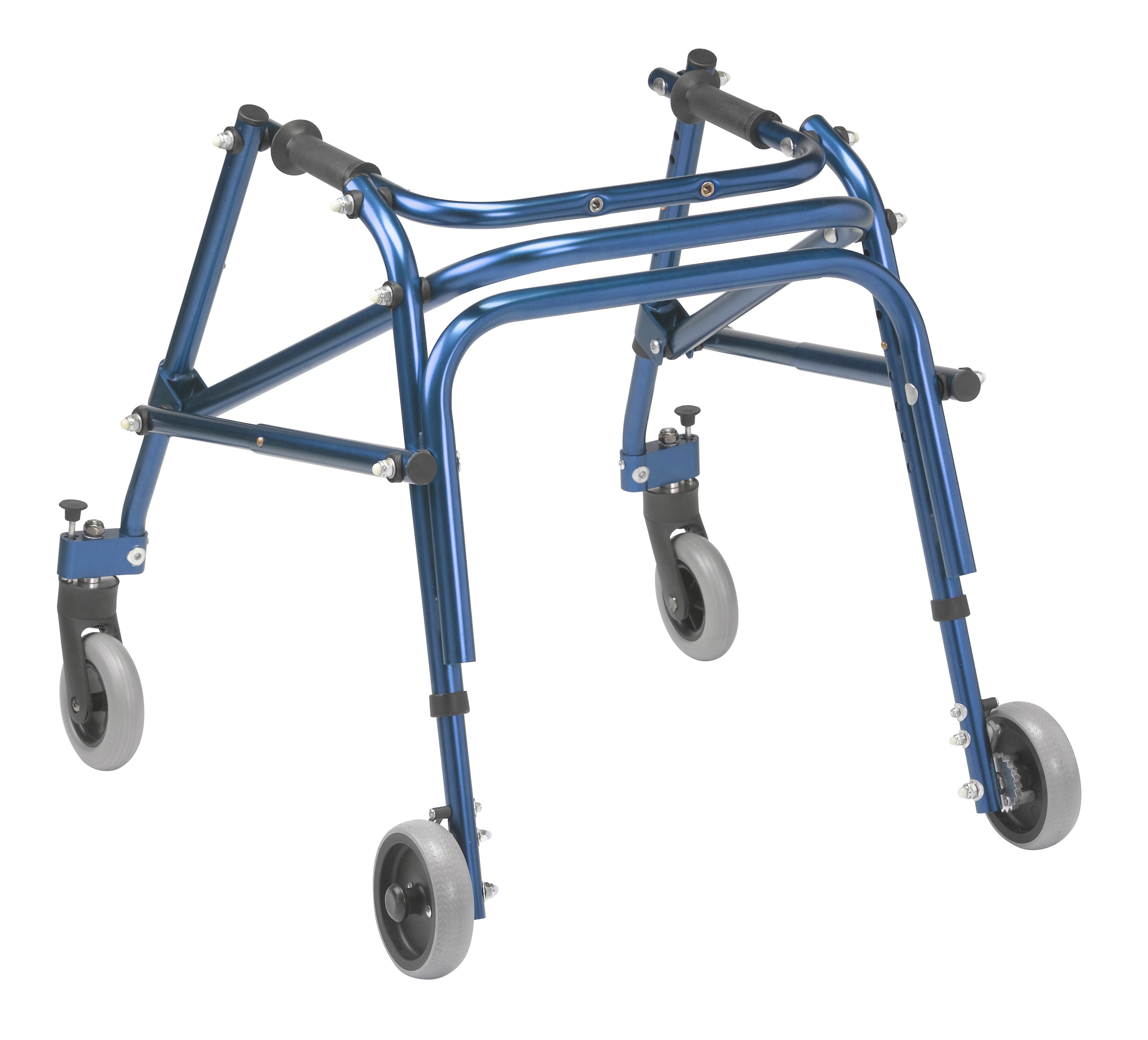 Nimbo 2G Lightweight Posterior Walker - Small - Knight Blue - Angle View