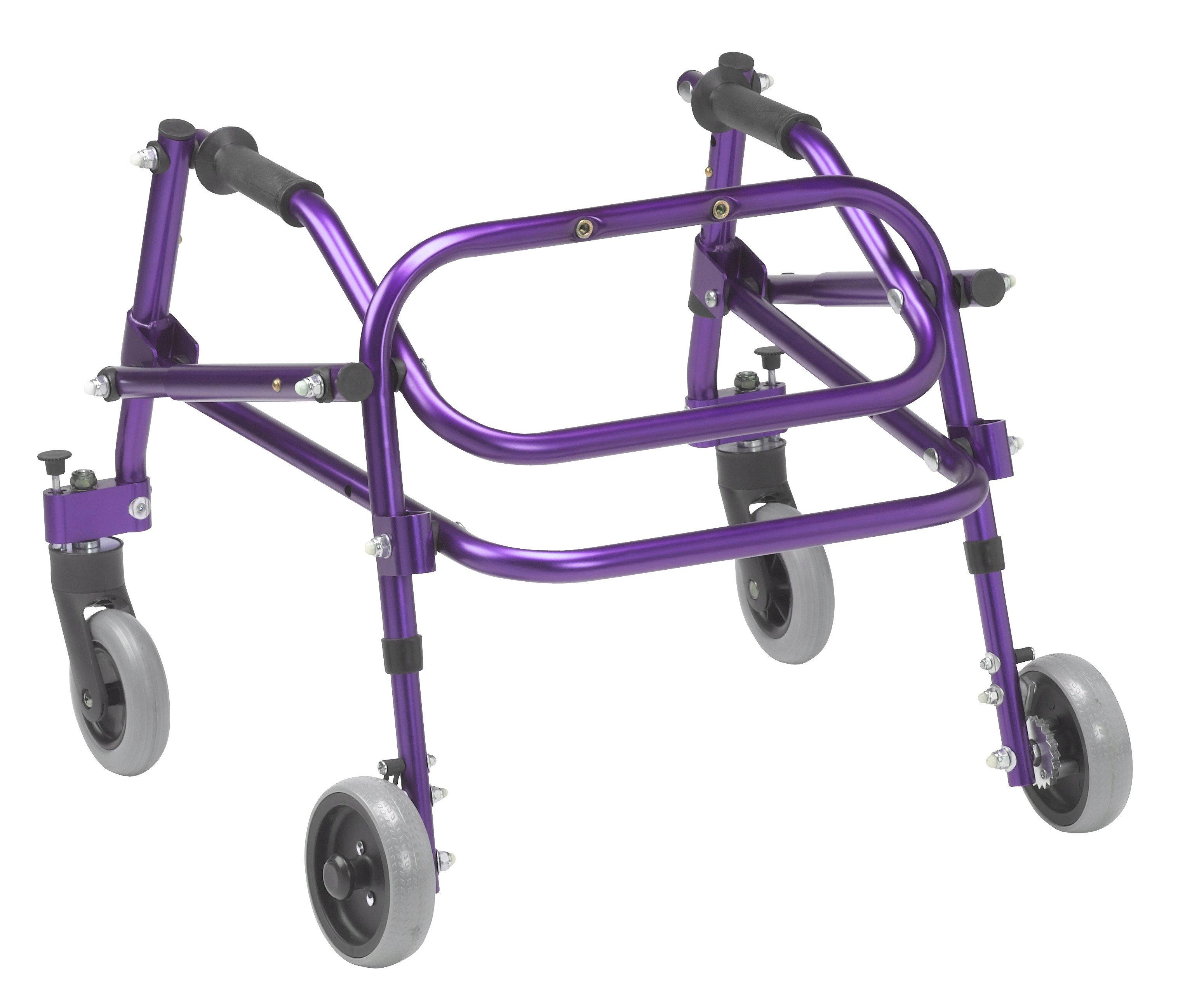 Nimbo 2G Lightweight Posterior Walker - Extra Small - Wizard Purple - Angle View