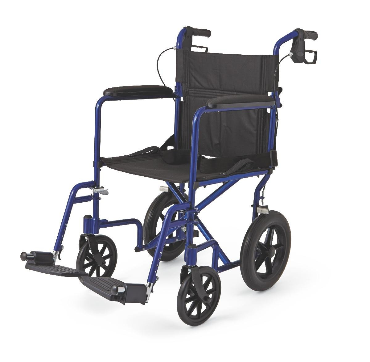 "MDS808210ABE Aluminum Transport Chair with 12"" Wheels"
