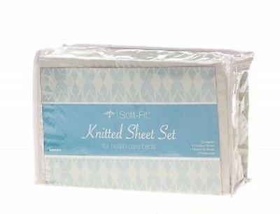 Medline - Soft Fit - Knitted Bed Sheet Set - Twin