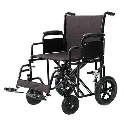 ProBasics Heavy-Duty Transport Wheelchair - Black