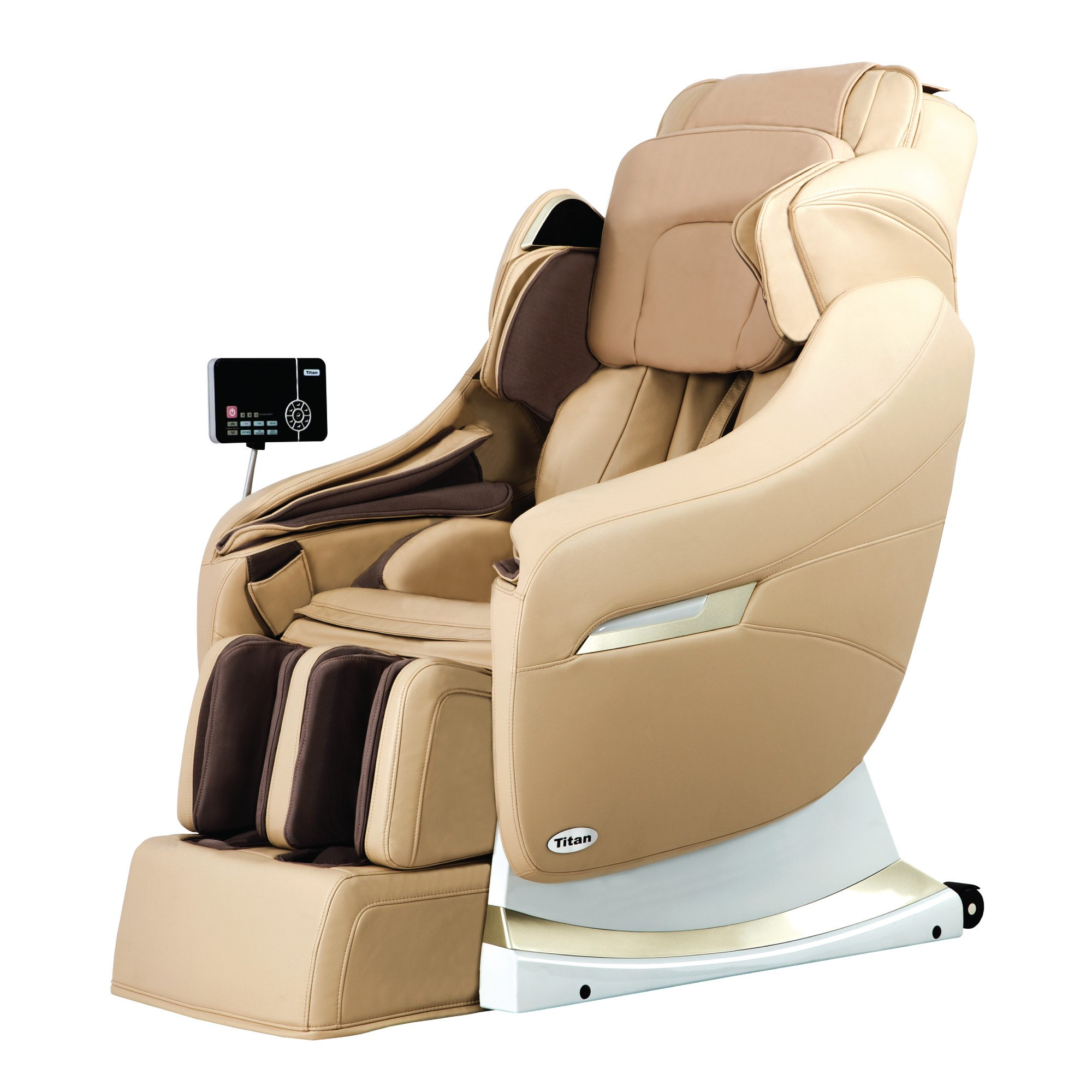 Titan Pro Executive Massage Chair - Cream - Front Angle View