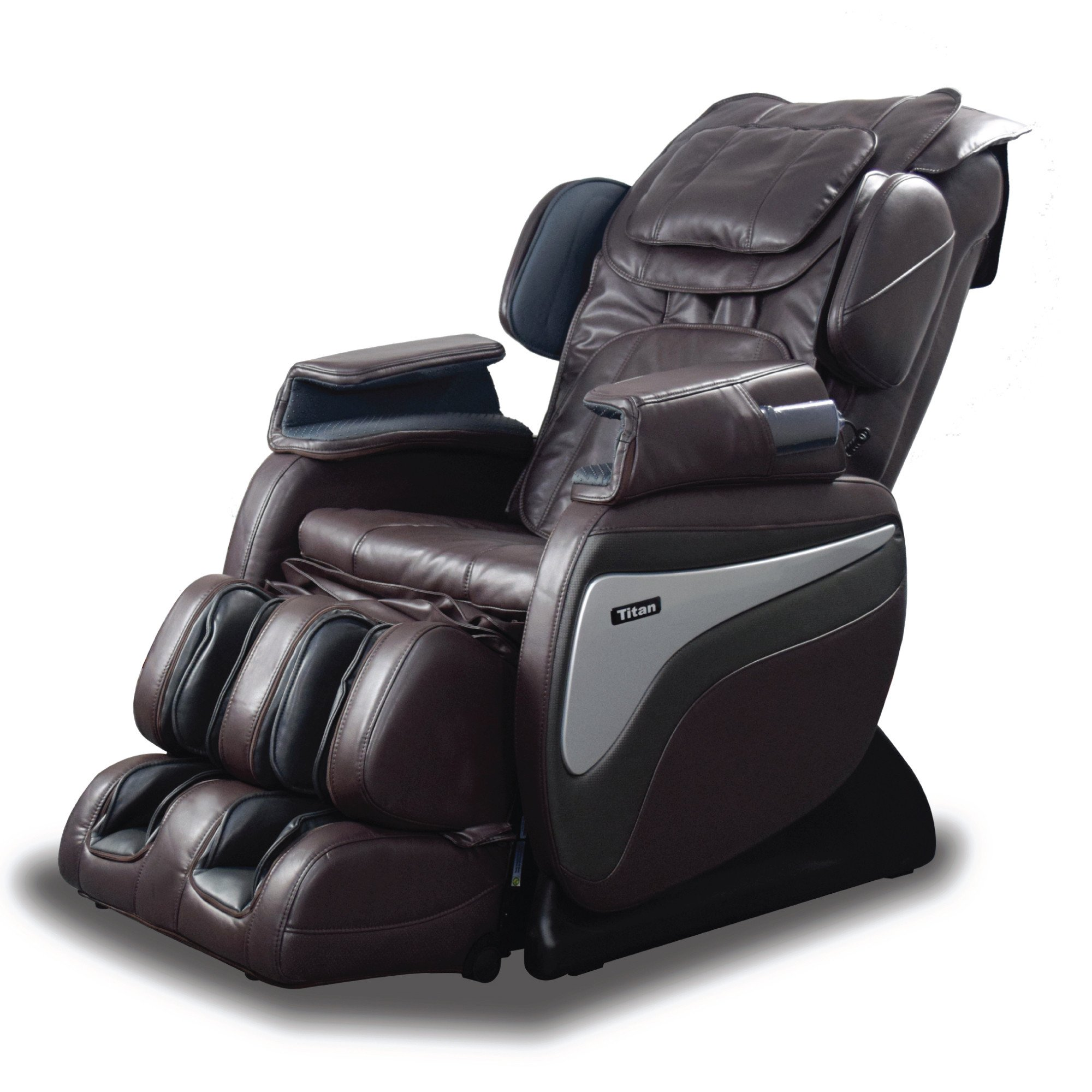 Titan TI-8700 Massage Chair - Brown - Front Angle View