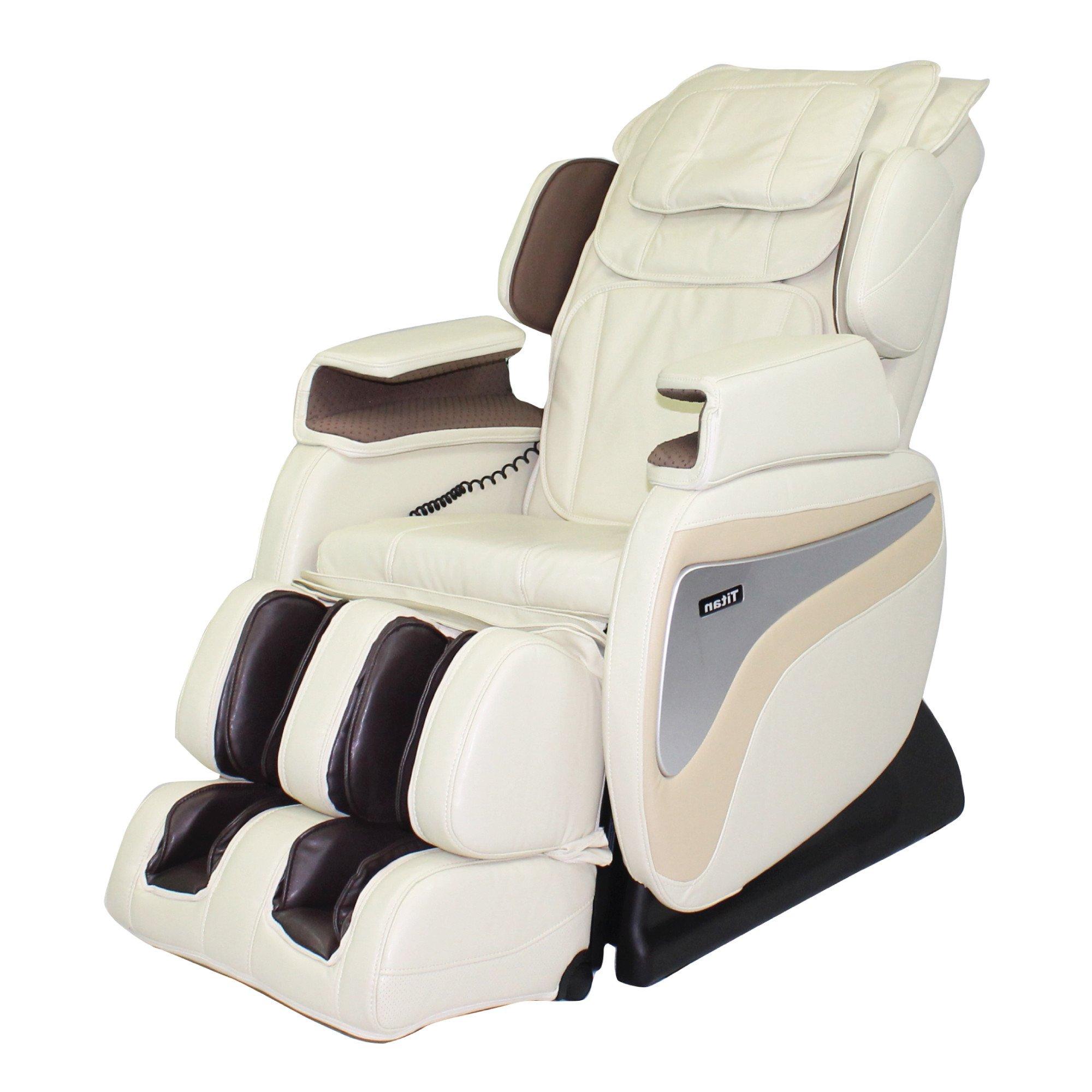 Titan TI-8700 Massage Chair - Cream - Front Angle View