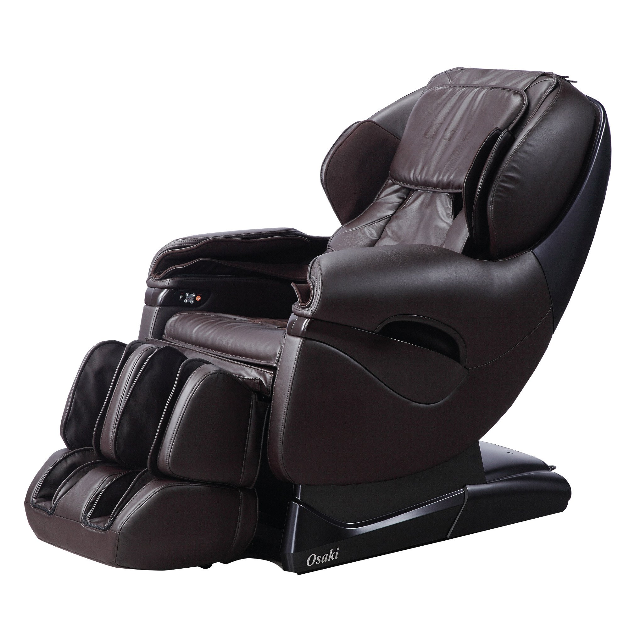 Titan OS-8500 Massage Chair - Brown - Front Angle View
