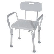 Bath Bench with Back and Removable Padded Arms - 12445