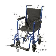 Drive ATC Transport Chair Parts