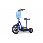 E-Wheels 3 Wheel Stand or Sit Scooter with Folding Tiller -  EW-18-Blue
