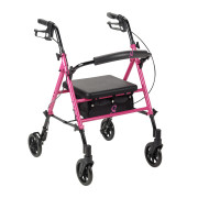 "Adjustable Height Rollator with 6"" Casters - RTL10261BC - PINK"