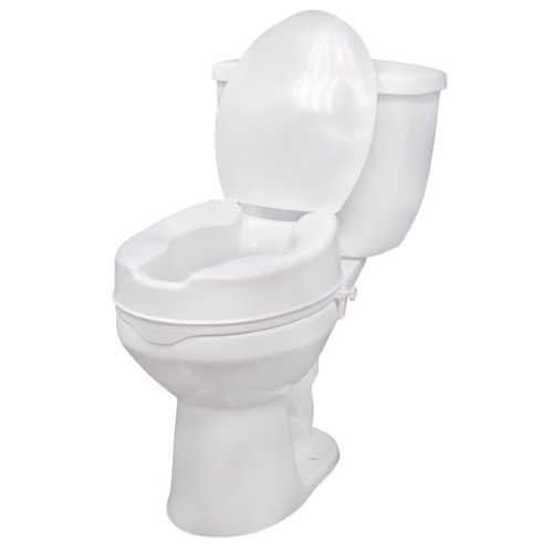 Drive Medical Raised Toilet Seat With Lid Clamps Pair